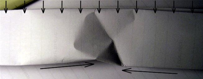 Il punto che subisce maggiore stress è lo spigolo inferiore della struttura  portante. In caso di carico eccessivo la struttura implode. c4b5d14dc90d